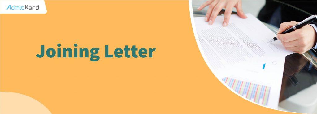 Joining Letter