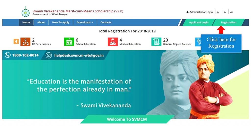 Swami Vivekananda Scholarship Website