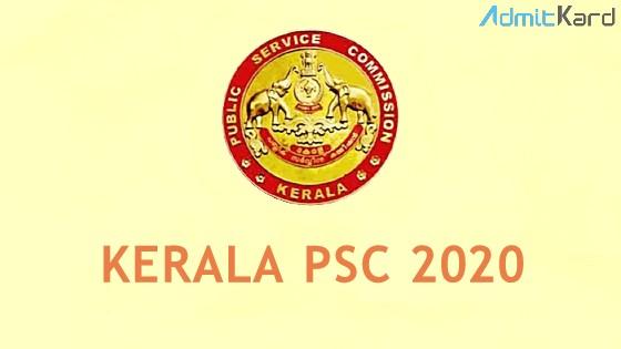 Kerala PSC 2020